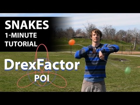 How to do Snakes for Poi: 1-minute tutorial