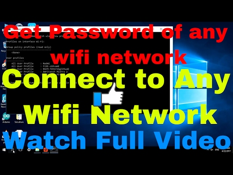 How to get PASSWORD of connected WIFI networks using Command Prompt ( Cmd)