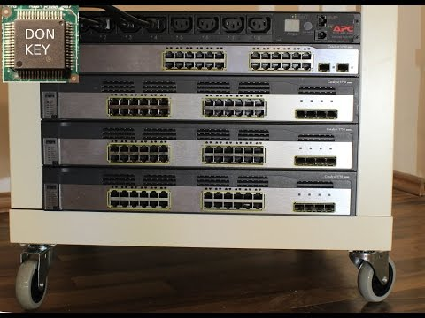 Building an IKEA Lack Rack on wheels for Cisco CCNA and virtualization home lab