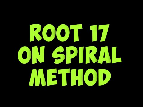 How to construct root 17 by spiral method