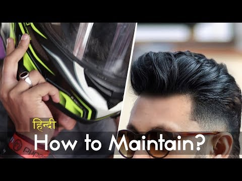 How to Maintain a Hairstyle Even Wearing Helmet | Hindi | Volumized Hairstyle | Indian Hair