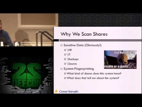 DEF CON 22 - Lucas Morris and Michael McAtee - ShareEnum: We Wrapped Samba So You Don't Have To
