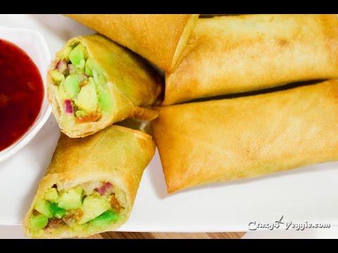 Avocado egg rolls | Copycat recipe of cheesecake factory by crazy4veggie.com