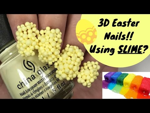 3D EASTER NAIL TUTORIAL!! 💛 (Using Floam?!)