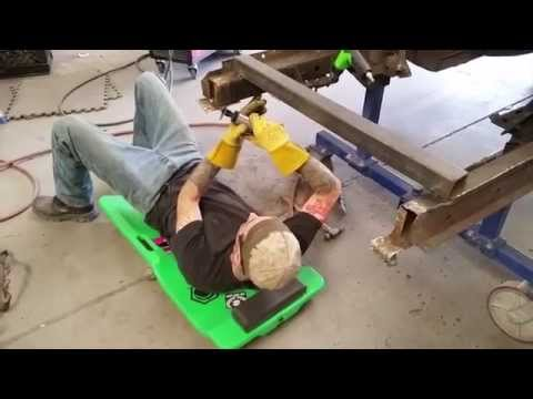 Drilling Spot Welds with Sky - Bill's 1966 Ford Mustang GT Convertible - Day 23 Part 3