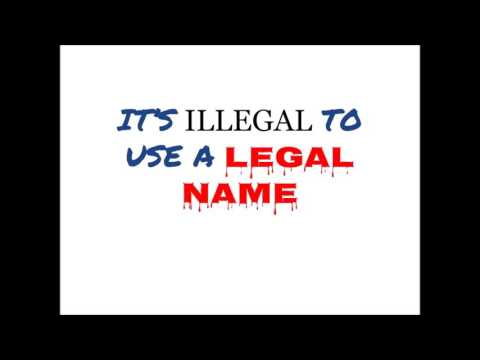 Call to Florida vital records attorneys:  it is illegal to use legal names.