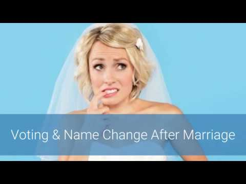 Voting & Name Change After Marriage