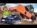 Download  КАТОК ПЕРЕЕХАЛ Mustang! 😱 Закатали машинку в асфальт! 33 Несчастья №2 MP3,3GP,MP4