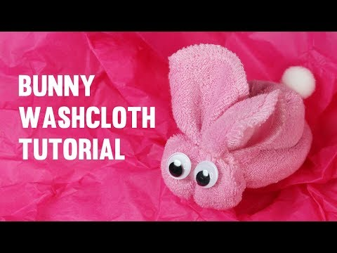 Washcloth Bunny Tutorial 🐰