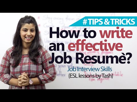 Job Interview Skills – 09 tips to write an effective Job resume.