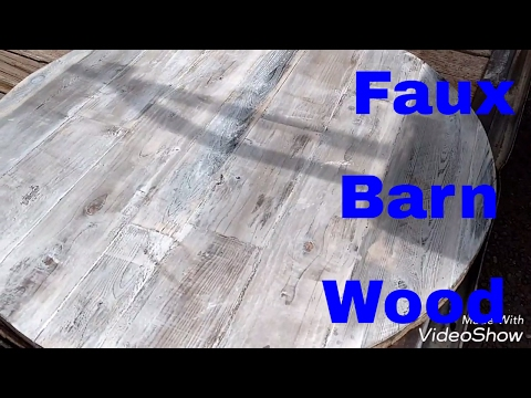 Reclaimed Barn Wood Faux Finish!