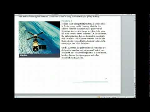 Word 2010 - Create Documents From Templates -  Microsoft Office 2010 Training