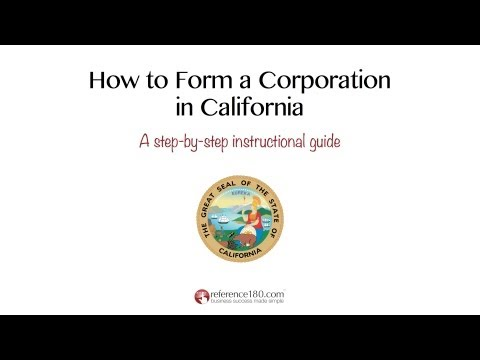 How to Incorporate in California