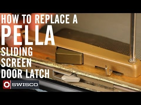 How to replace a Pella sliding screen door latch