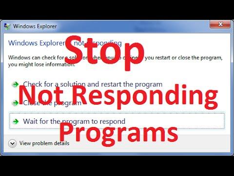 Program Not Responding - Task Manager End Task Not Working - SOLVED