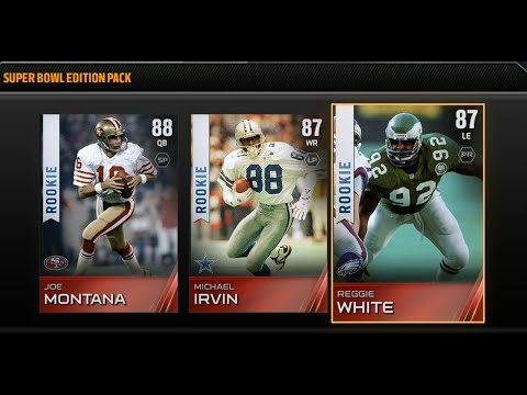 Madden NFL 15 Xbox One Super Bowl Edition Ultimate team Pack Opening! - Rookie Joe Montana!