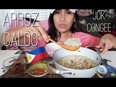 ARROZ CALDO 🌱 Vegan Filipino Food Mukbang & Recipe