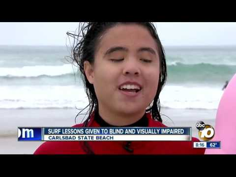 ABC 10 Features the 22nd Annual Blind Surf Event