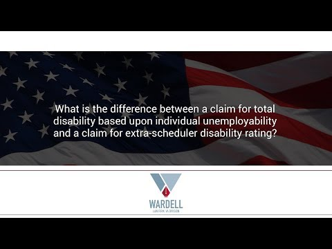 What is the difference between a claim for total disability based upon individual unemployability...