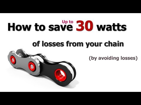 How to save up to 30 watts of losses from your bicycle chain!