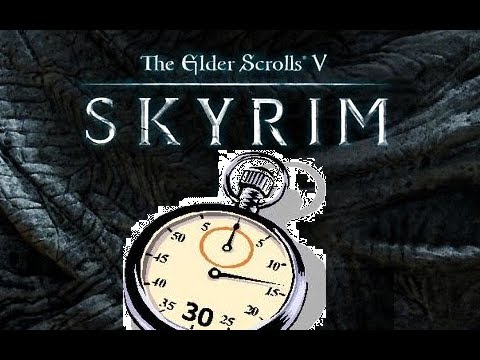 How to BEAT SKYRIM in 30 SECONDS!!!!!