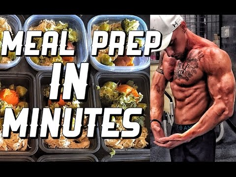 Remington James | Meal Prep In Minutes | Cutting Diet Meal Prep In Under 15 Minutes