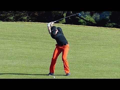 [Slow HD] Rory McIlroy 2013 LONG IRON with practice golf swing (1)