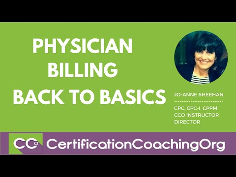 Back to Basics Physician Billing  — The Very First Step
