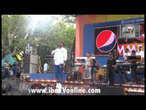 Ne-Yo Soundcheck Good Morning America Summer Concert Series Central Park NYC iboTV