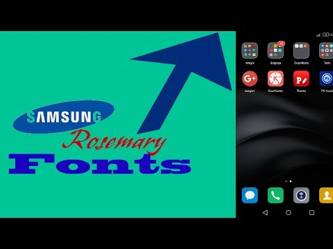 How to change font in any single Android phone No Root No Samsung phone [Rosemary font]