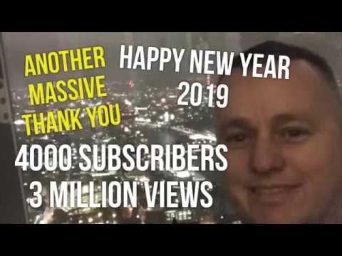 """""""Happy New Year"""" & Another Massive Thank you, 3 Million Views, 4000 Subscribers """"""""Wow"""""""""""