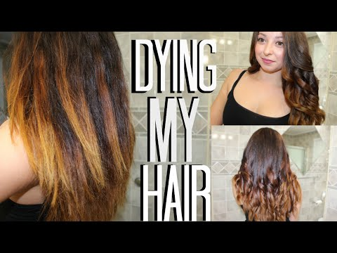 Fixing my hair: Garnier Olia Brilliant Color 6.3 Light Golden Brown