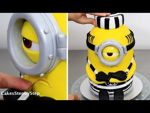 How To Make a MINION CAKE by Cakes StepbyStep