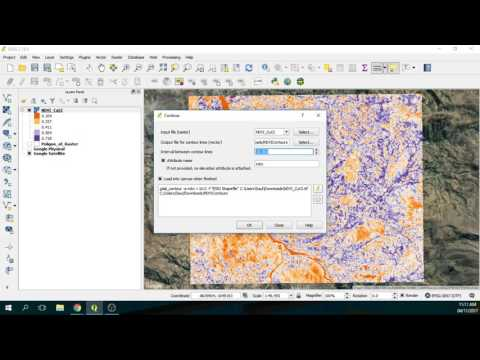 How to create contours from a Raster File - Example on a NDVI Layer