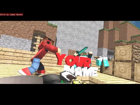FREE Crazy Minecraft Fight Animation BLENDER Intro Template: #625 + Tutorial