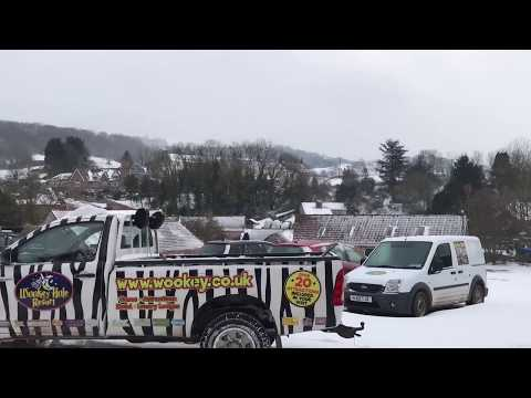 SNOW WOOKEY HOLE CUT OFF IN SOMERSET