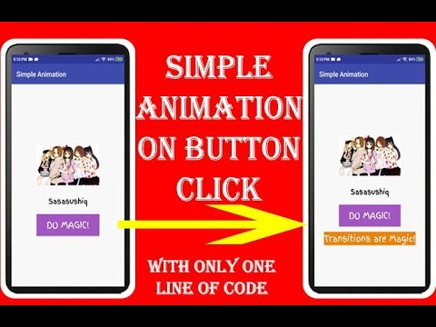 Animate make visible/invisible text on Button Click in Android | Android App Development video#15