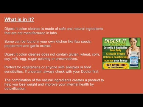 Cleansing Your Colon with Digest It - Best Colon Cleanse for Weight Loss