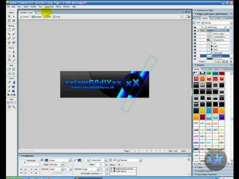 How to Make a Cool Banner in Adobe Fireworks CS3 - TUTORIAL