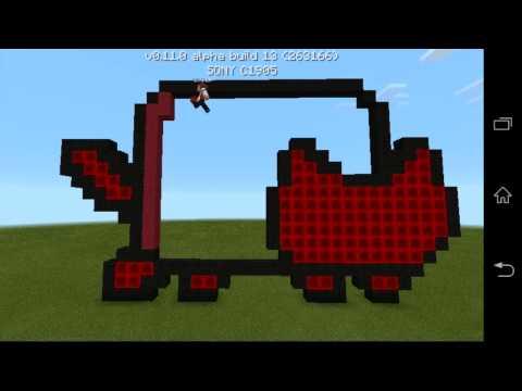 Minecraft pe pixel  art красный nyan cat