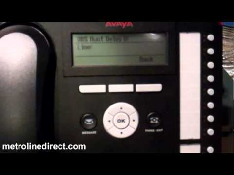 Avaya IP Office -  How to assign an auto attendant in Quick Version with a 1416 digital phone