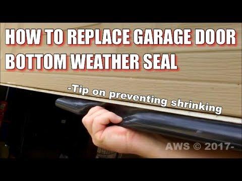 How To DIY Install Garage Door Bottom Weather Seal