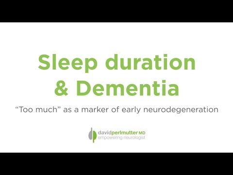 Sleep Duration & Dementia: An Early Marker of Cognitive Decline?