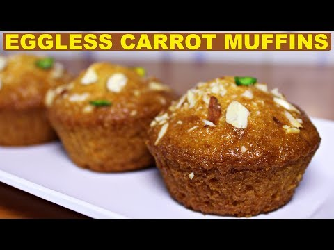 Eggless Carrot Muffins | Carrot Cake | Spongy Carrot Muffins | Kanak's kitchen