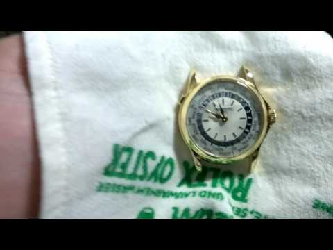 DETAIL YOUR HIGH END WATCH - Cleaning your Luxury Gold Watch on a Leather Strap