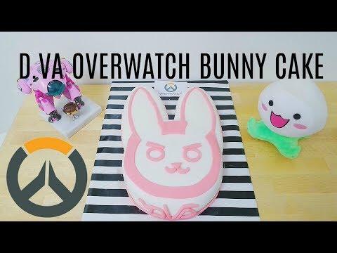 BUNNY D.VA OVERWATCH CAKE (COMPLETE CHARACTER CAKE TUTORIAL)