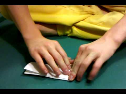 How to make a paper ninja square
