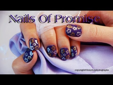 Easy Mini-Flowers Live Nail Tutorial. Nails Of Promise.
