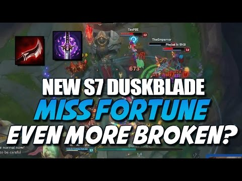 NEW DUSKBLADE LETHALITY MISS FORTUNE Even More Broken? Season 7 (League of Legends)