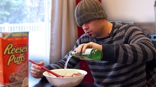 This Man Has To Put Beer In His Cereal